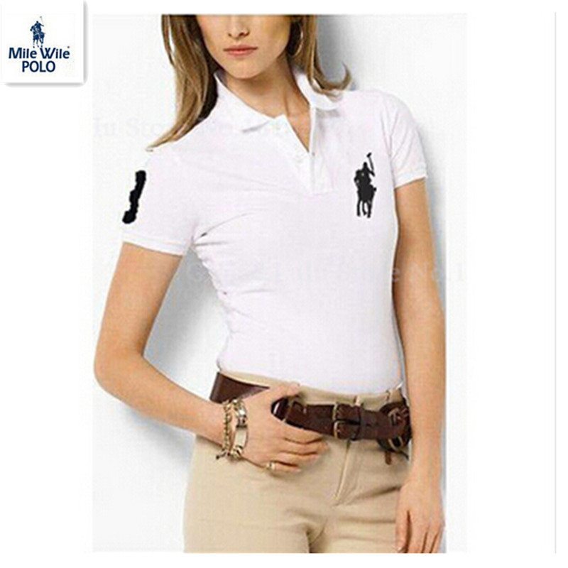 5ca0d96266 Get Quotations · 2015 New Fashion Summer Brand Cotton Polo Ralp Women short  sleeve brand Women's Solid Polo Shirts