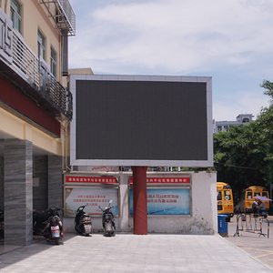 Outdoor full color led video wall waterproof giant led screen P10 street commercial advertising display price