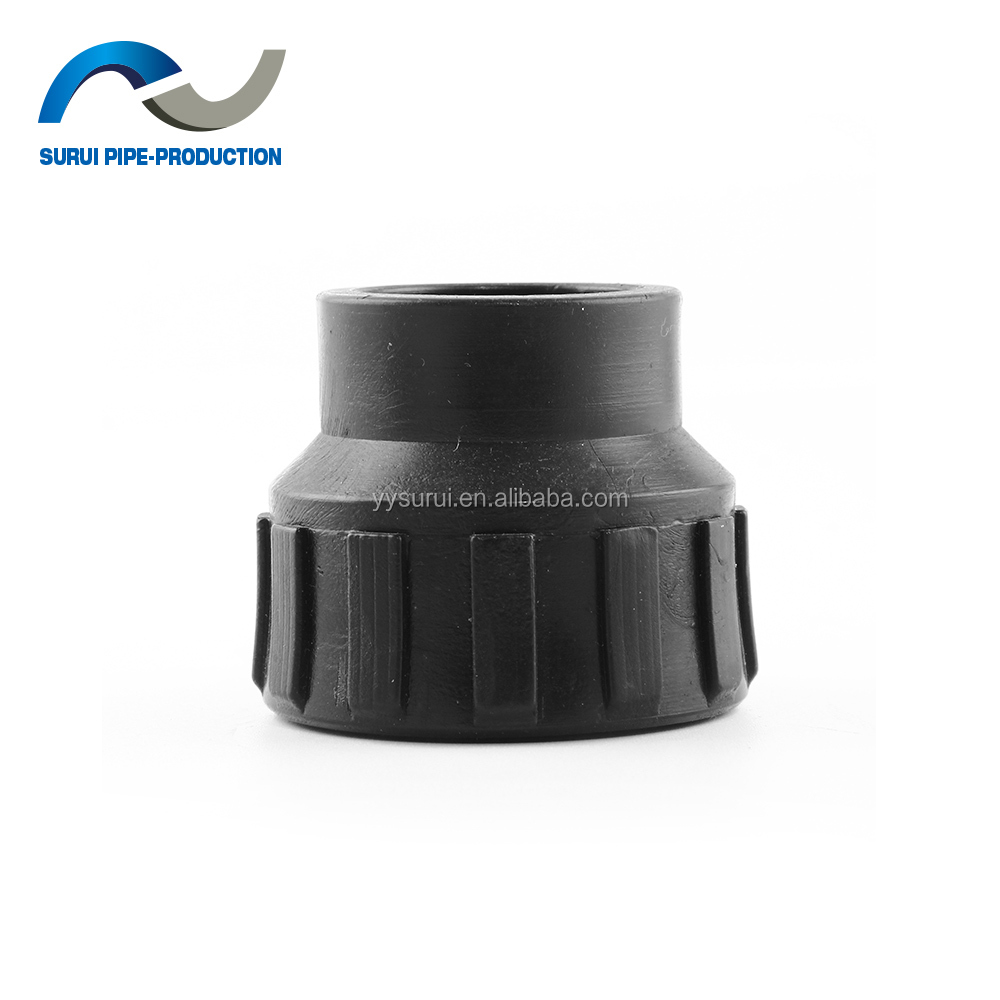 More size HDPE pipe fittings water pipe thread female coupling/pe electrofusion fitting