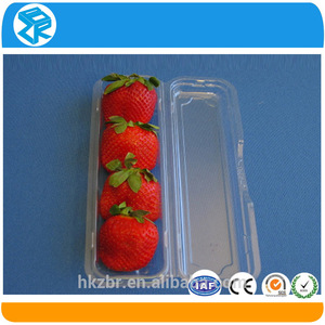 Eco-friendly PET/PP disposable plastic clamshell cardboard packaging box