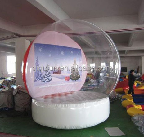 2016 antique giant 1.0 MM plato material giant inflatable snow globe, individuality custom made snow globes on sale
