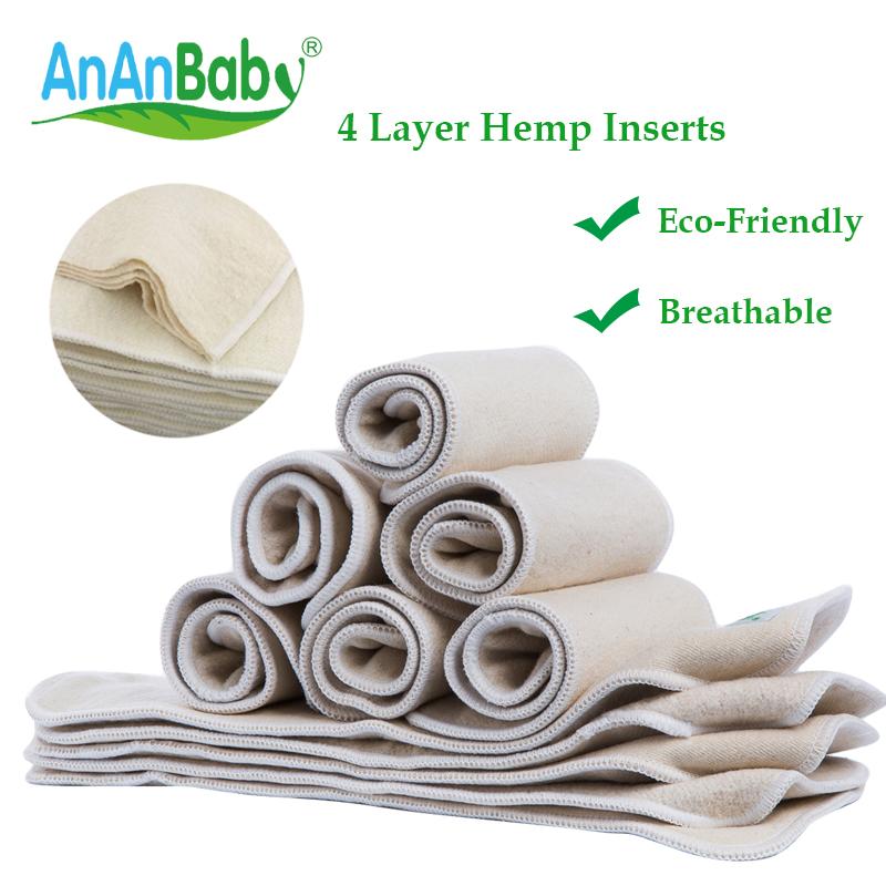 Organic Hemp Fabric Diaper Insert Reusable Washable Stay-dry ...