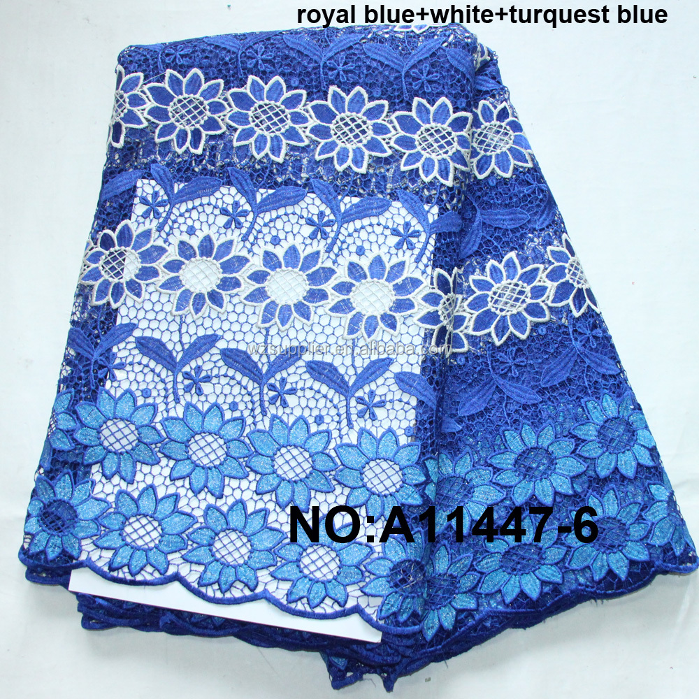 2018  hot selling african cord lace fabric water soluble lace fabric guipure lace manufacturer