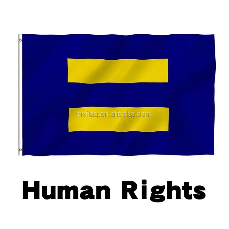 Custom 3x5 Human Rights Religious Gay Pride flag Human rights banner