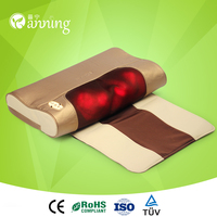 Eco-friendly electric back roller massage pillow,electric cheap price multi-function massage pillow,electric body heat massager