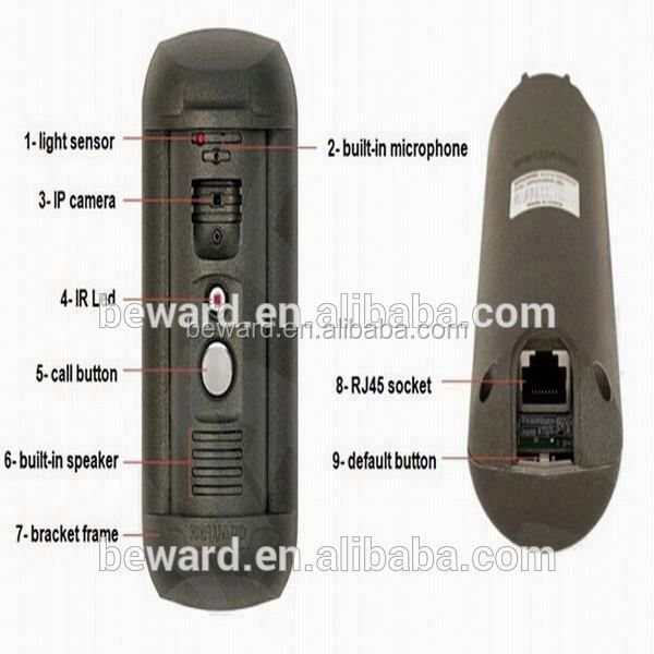 New security product sip hot sale wifi visual intercom doorbell/video door phone /ip wi-fi camera for smart mobile phone