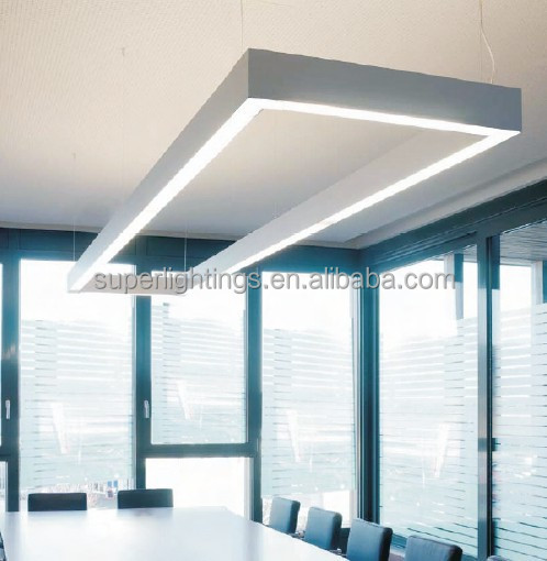 Aluminum silver led tube light office hanging light, View office ...