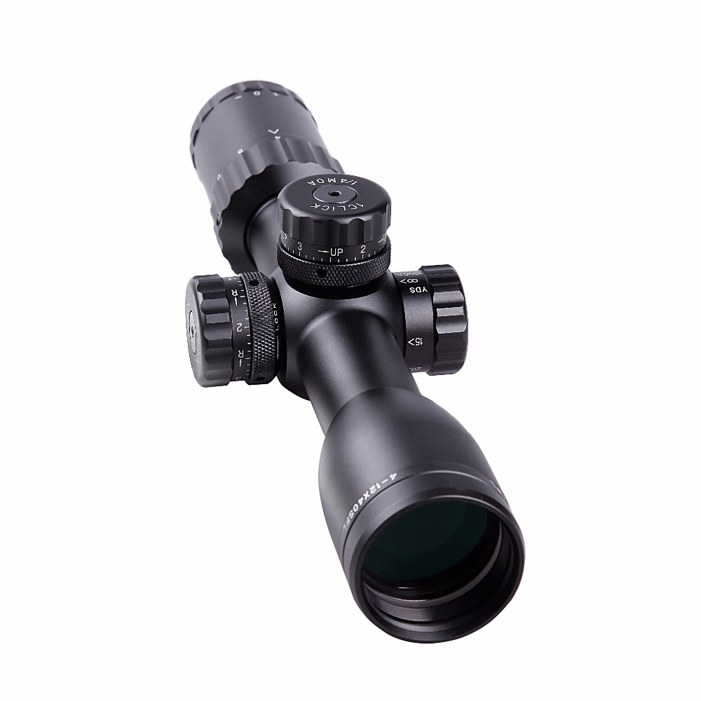 DC 4-12x40 rifle scope large field of view side focus Chinese Hawke