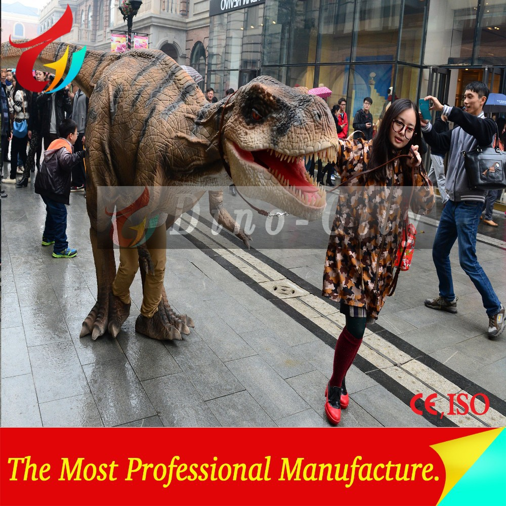 Amusement park robot t rex animatronic walking dinosaur costume