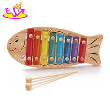 Cute design kids wooden mini piano xylophone toy with top quality W07C022