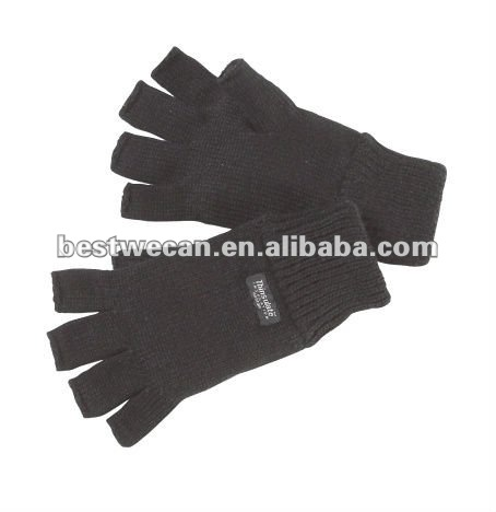 100% acrylic fingerless Thinsulate lined glove