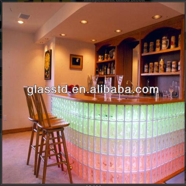 Bloques de vidrio hueco para bares cristal de construcci n - Bloque de vidrio precio ...