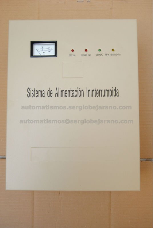 Uninterrupted Power Supply, UPS, SAI, Sistema de Alimentacion Ininterrumpida for door, para puertas