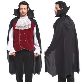 Halloween Costumes Adult Cosplay Gothic Vampire Man Costume