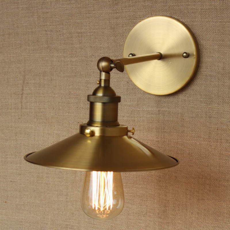 LOFT Lamp Discount Lighting Antique Gold Metal Wall Lamp