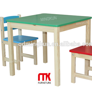 birch bent wood pine wood plywood cheap wooden kids table and chairs