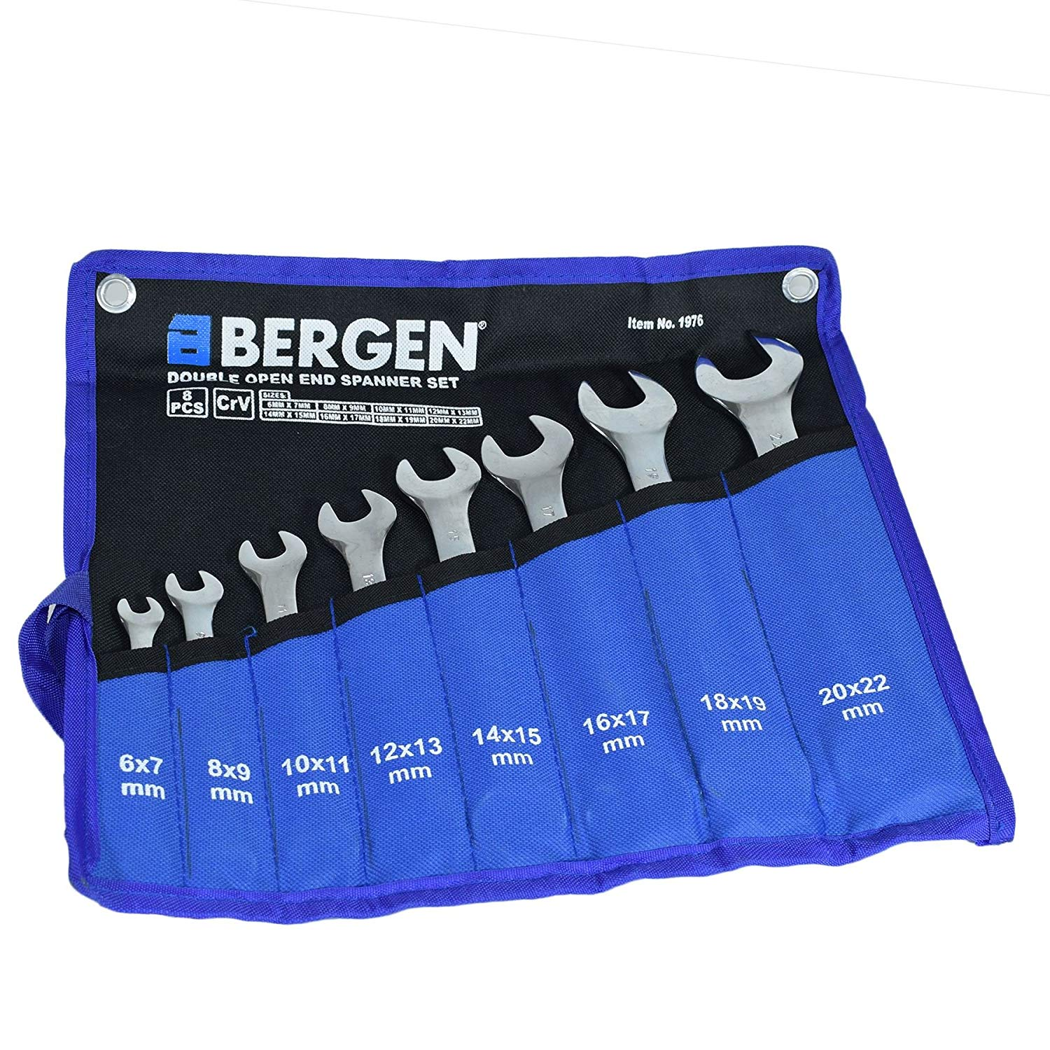 Double Ended Open Metric Spanner Set 6mm - 22mm 8pc 16 Sizes Bergen