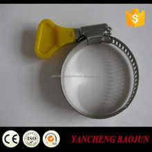 Galvanized hose clamp with Butterfly plastic handle American type
