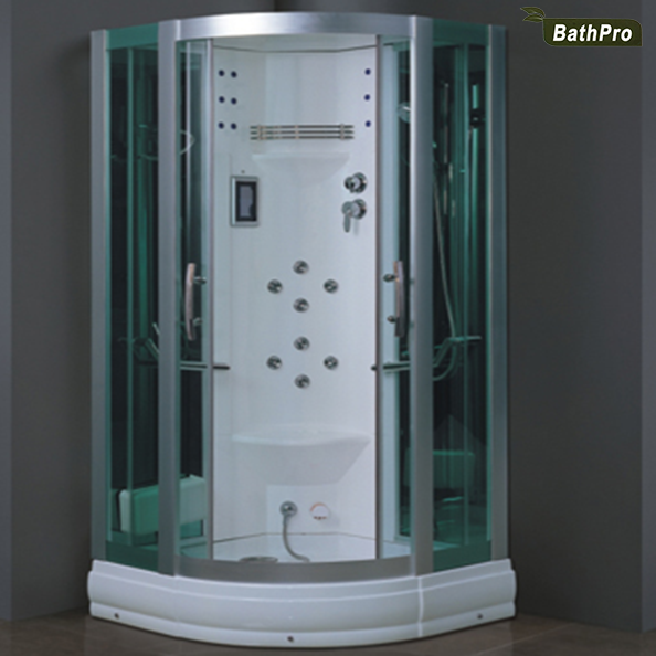 sector shape acrylic material personal steam room with shower
