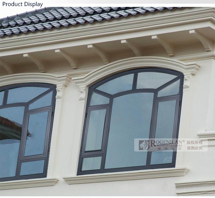 rogenilan estilo francs arco foto ventana de aluminio y puerta