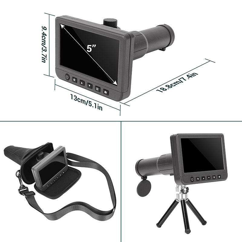 """50X 5.0"""" LCD display 1080p Video  with  Micro-SD card digital telescope with LCD screen"""