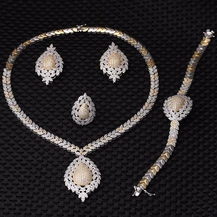 2017 Woman Bridal Wedding Jewelry Sets Charm AAA Cubic Zirconia Design