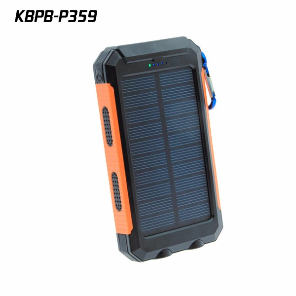 2016 New 10000 mah Solar charger Waterproof Portable Power Bank