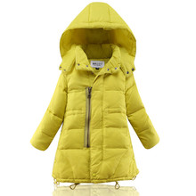 Girls Winter down jacket for girls 6 14 years kids thick cotton warm long coat children