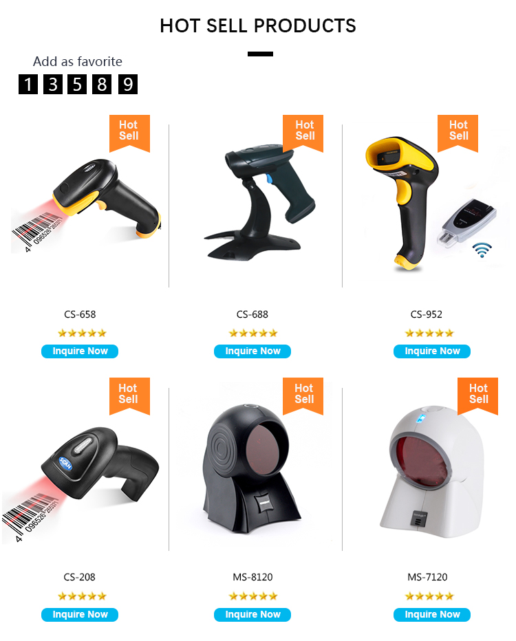 2.4G/433Mhz Wireless barcode scanner one dimensional