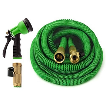 Garden Hose 100 Feet with 8 Spray Pattern Nozzle Strongest Expanding Garden Hose with Triple Layer Latex Core
