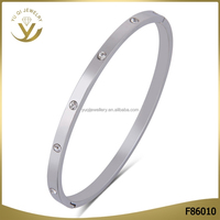 2016 Wholesale high-end eco-friendly charm jewelry top zircon sterling silver 925 thin bracelet