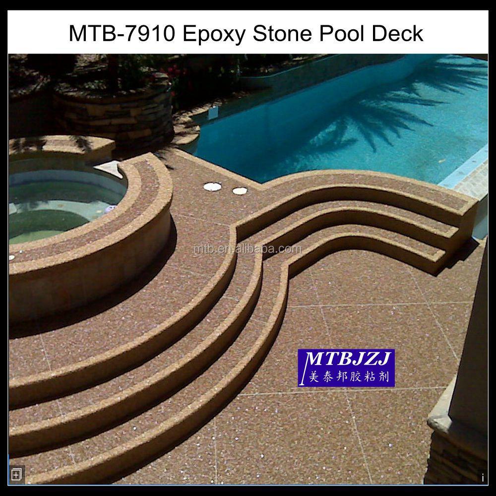 Epoxy Natural Stone Pool Deck