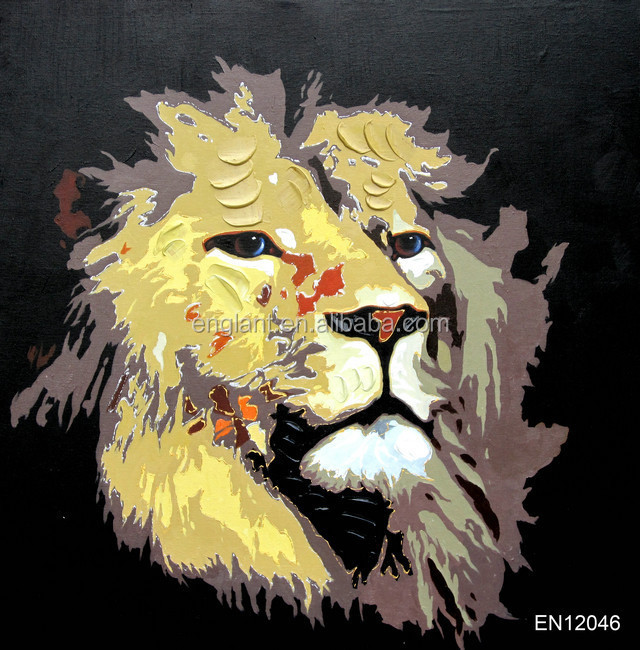 Colorful animal photo lion canvas paintings