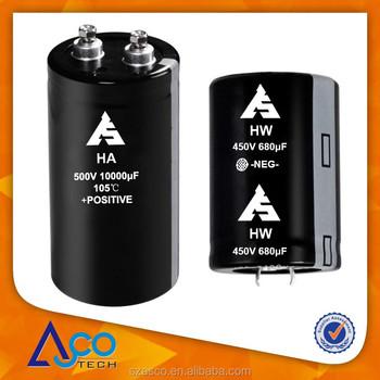 High Voltage Screw Terminal Electrolytic Capacitors 500v 1000uf ...