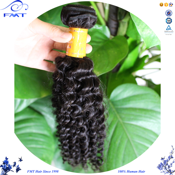 Alibaba Recent Hair Product Brazilian Kinky Human Hair Extension, 7A Virgin Curly Hair Bundle