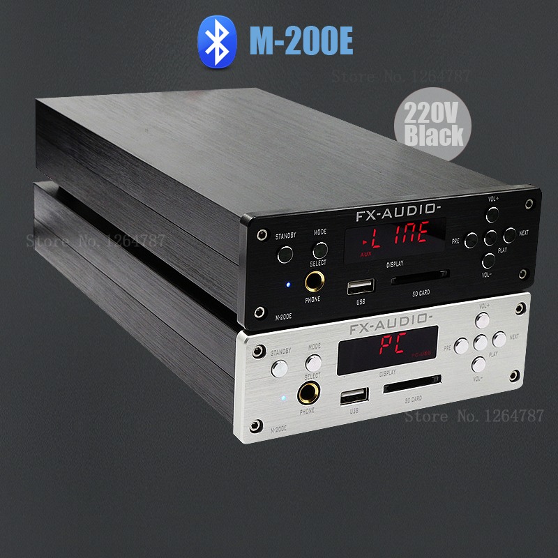 FX-AUDIO M-200E MINI HIFI high-fidelity amplifier support U disk / SD card lossless / Bluetooth 4.0 /120W*2 - 220V