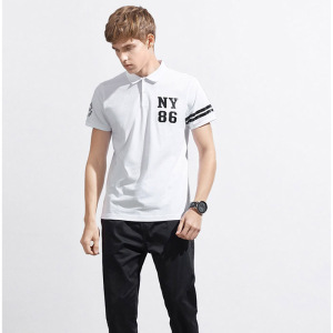 Wholesale soft comfort white uniform polo shirt