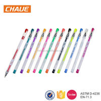 High quality colorful plastic writing 3d jelly pen with logo print