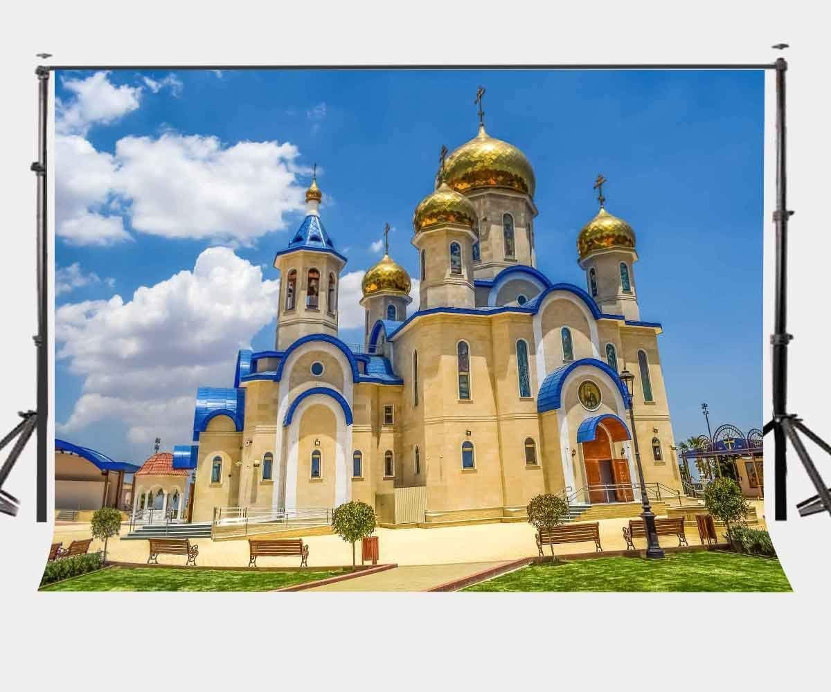 ERTIANANG 150x220cm Russian Church Photography Backdrop Sunny Weather Backdrop Studio Props