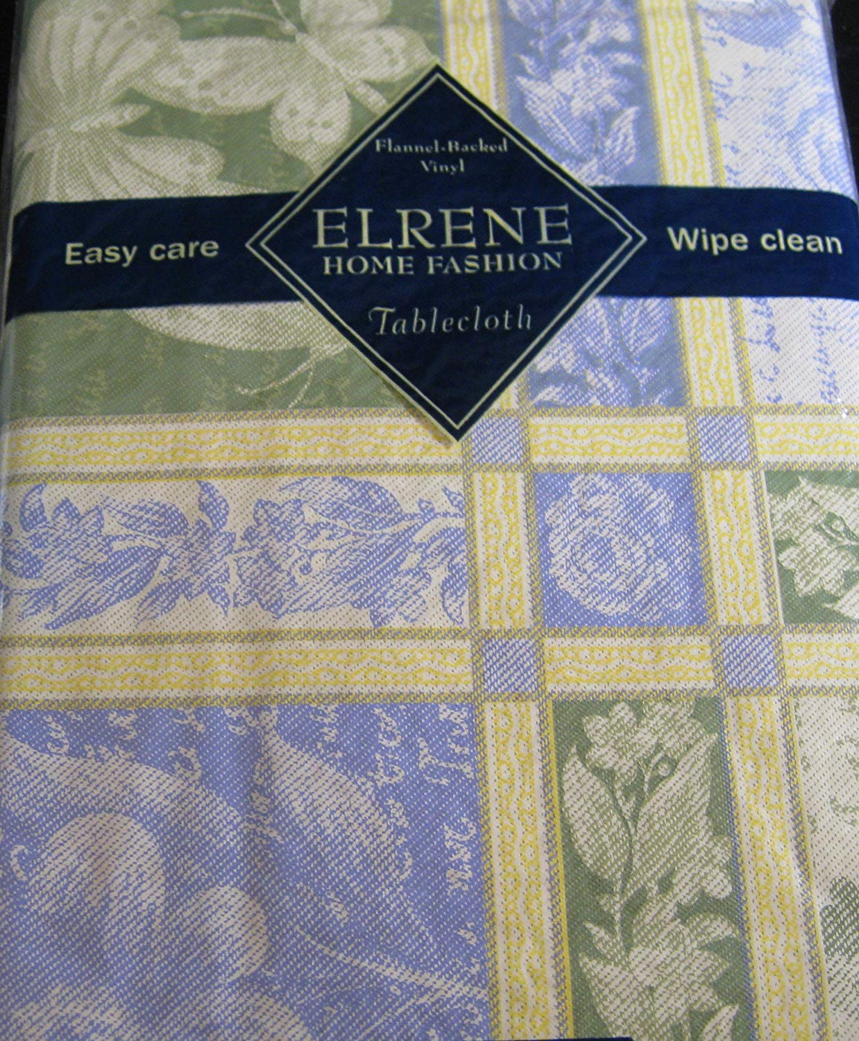 Flannel Backed Vinyl Tablecloths - Jacquard By Elrene - Assorted Sizes - Oblong and Round (60 Round)