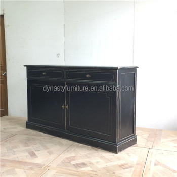 Antique Style Living Room Furniture Partition Wooden Cabinet