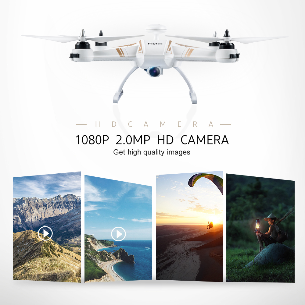 High Quality Flytec T23 RC Drone Navi 5.8G FPV 1080P HD Camera 6CH Brushless Motor Dual GPS Follow me RC Dron