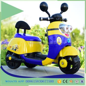 New Design Baby Motor Car Minions Cartoon Kids Children ...