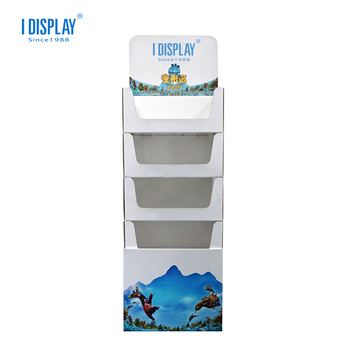 Shenzhen Supplier POP paper shelf display rack