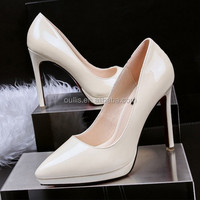 Mega March Sourcing office shoes newest designs women heel dress shoes 2017 PMS4189
