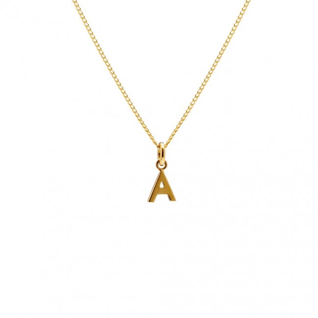 31e780d53e0 Mini cute gold pendant alphabets designs initial name necklace for birthday  jewelry gift