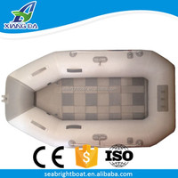 CE Approved PVC Material Best Inflatable Pontoon Commercial Fishing Bass River Rowing Boat