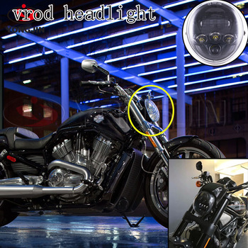 headlight for harley davidson model vrod muscle and night. Black Bedroom Furniture Sets. Home Design Ideas