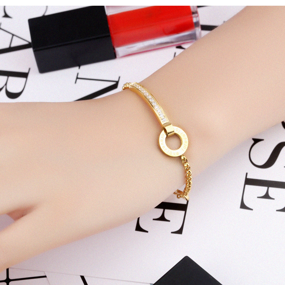 Wholesale Fashion Jewelry Adjustable Chain Gold Bracelet Design For Girls