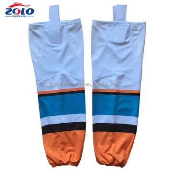 Wholesale Custom Sublimated Blank Polyester Camo Ice Hockey Socks